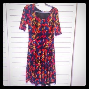 New Lularoe Nicole Dress in Multi-Color Print